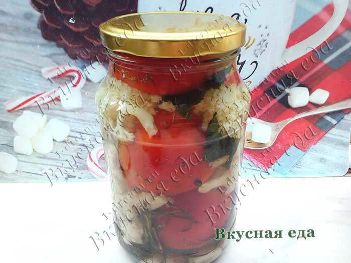 Закрыть крышкой на зиму помидоры и цветную капусту