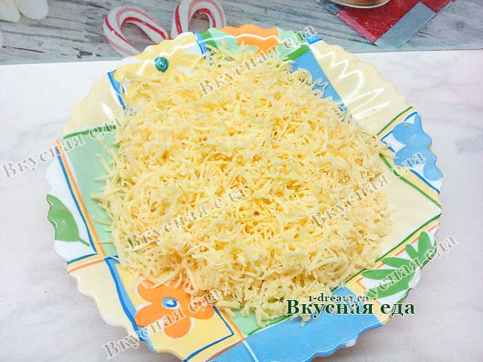 Потереть мелко сыр