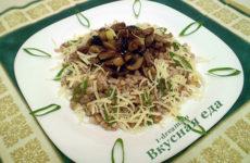 Каша гречневая с грибами (1 способ)
