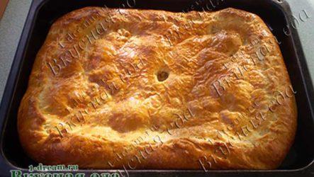 Пирог с капустой и мясом в духовке