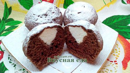 Шоколадный кекс с творогом
