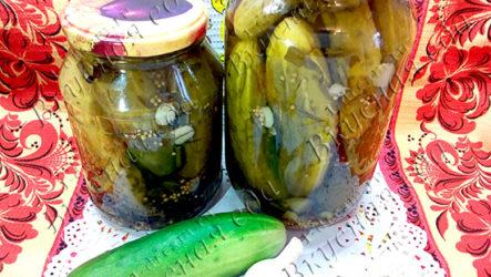 Маринованные огурцы с семенами горчицы