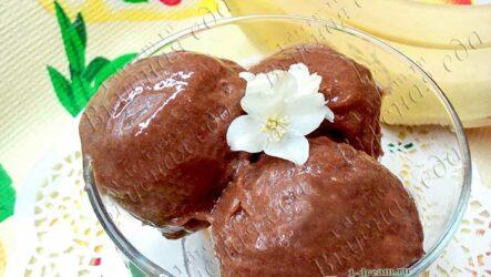 Шоколадное банановое мороженое